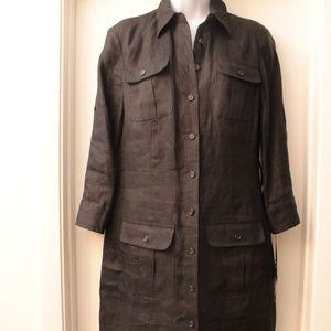 NWT Ralph Lauren Black Linen Safari Dress 4